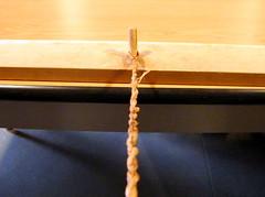 Making my Cedar bark bracelet