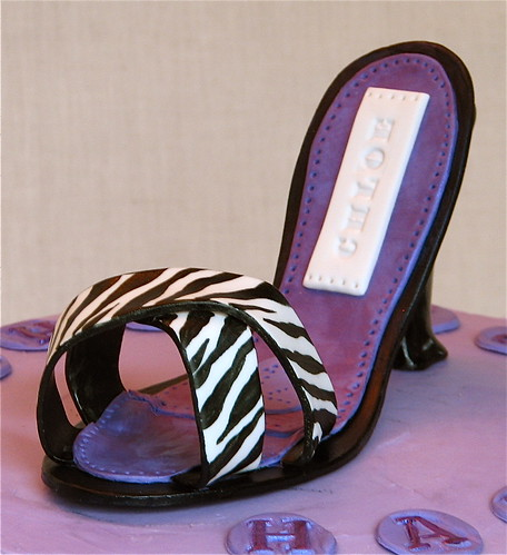 Zebra Stiletto Shoe Cake