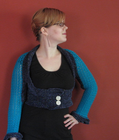 Crochet Shrug 1, front view (1)