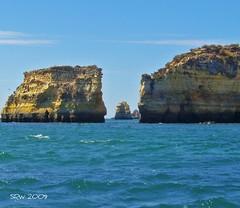 Lagos, Portugal (S R W) Tags: ocean sea beach portugal rocks lagos algarve bluegrotto supershot abigfave platinumphoto ultimateshot