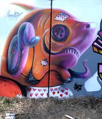 Porto trainline (BREakONE) Tags: portugal train toy graffiti shark line porto wal stich pake neutra bighed breakone