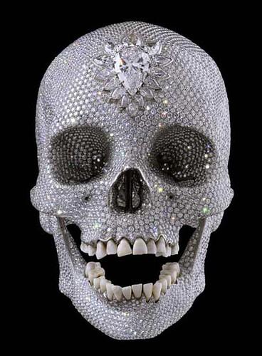 damien hirst crystal skull