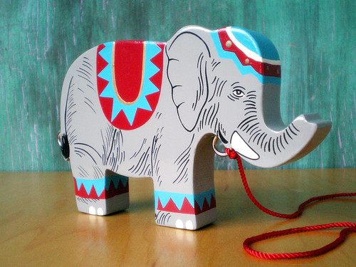 Circus Elephant, Wooden Toy