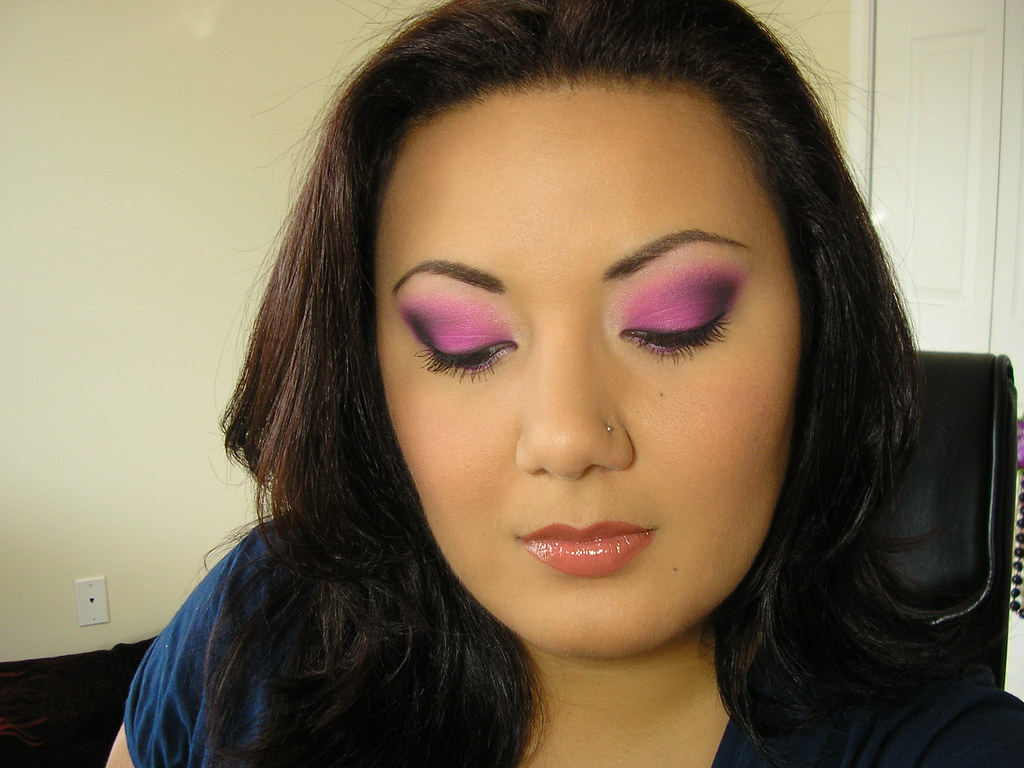 Hot Pink & Black Smoky Eye