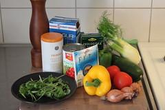 Före - Ratatouille med bulgur och feta