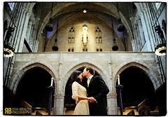 Gothic Wedding, old-school-style (Ryan Brenizer) Tags: nyc newyorkcity wedding love groom bride nikon kiss bokeh harlem noflash riversidechurch d700 35mmf18dx nicoleandjoe