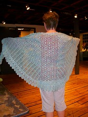 The beautiful Ice Fantasia Shawl
