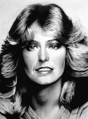 Farrah Fawcett (pbradyart) Tags: portrait bw art pencil movie star sketch artwork drawing farrah fawcett pencildrawing farrahfawcett farrahfawcettpencildrawing farrahfawcettportrait