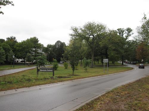 Minnehaha Parkway on a Rainy Day