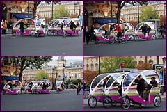 1 - 3 octobre 2009 Paris Nuit blanche Place Saint-Michel Regroupement de tricycles Monop' (melina1965) Tags: paris bike collage nikon october ledefrance faades mosaic collages tricycle mosaics bikes 75006 2009 faade vlo nuitblanche octobre vlos mosaque mosaques tricycles 6mearrondissement d80 photoscape mesphotosenmosaque flickrmosaicscollages