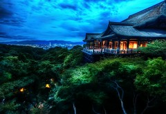 The Treetop Temple Protects Kyoto (Stuck in Customs) Tags: city travel sky cliff mountain color monument japan architecture clouds landscape temple photography high ancient nikon kyoto san asia cityscape dynamic stuck natural outdoor dusk buddhist traditional buddhism historic september valley zen sacred restored restoration top100 overlook kita eastern range 2009 kiyomizu kiyomizudera hdr trey confluence customs treetop heian dera protects otowa ratcliff otowasan stuckincustoms d3x treyratcliff hosso hoss kitahoss kitahosso