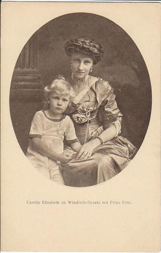 Fürstin Elisabeth von Windisch-Graetz mit ihrem Sohn, daughter of Crown