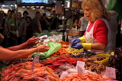 Mercado La Boquera / Spain, Barcelona (flydime) Tags: barcelona life city portrait people fish spain market bcn catalonia mercado catalunya boqueria barcellona catalua  laboquera  5photosaday