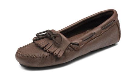 Soft Moc Womnens Black Boat Shoes