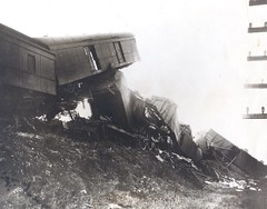 Photograph of wreck of the Southern Railway train