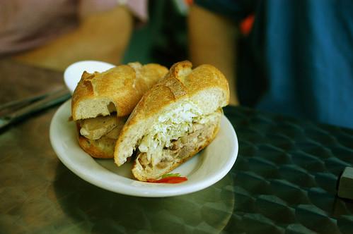 porchetta sandwich at Il Cane Rosso