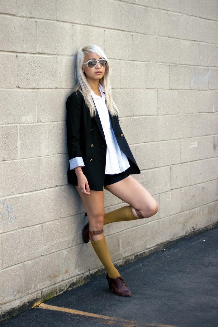 Sock garters at Darling Darling