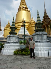 Alex in front of Phra Siratana Chedi, The Grand Palace