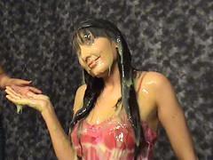 Minnie Vs. Green Slime (iSlime) Tags: slime gunge gunged slimed slimedgirls