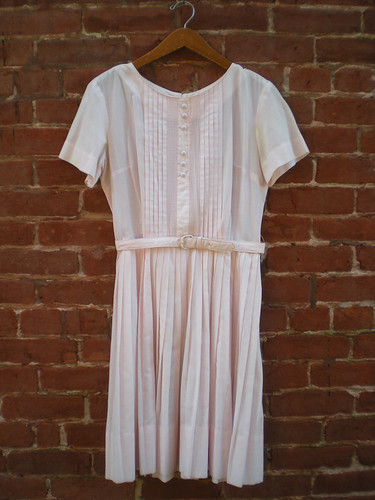 Etsy: Vintage 50's Junior's Cotton Pin Pleat Dress