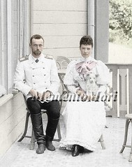 Grand duke Georgiy Alexandrovich and mother Maria Fyodorovna (Grand Duchess Ekaterina Fyodorovna) Tags: photomanipulation vintage george antique maria colorized empress royalty grandduke dowager tsarina georgiy alexandrovich fyodorovna