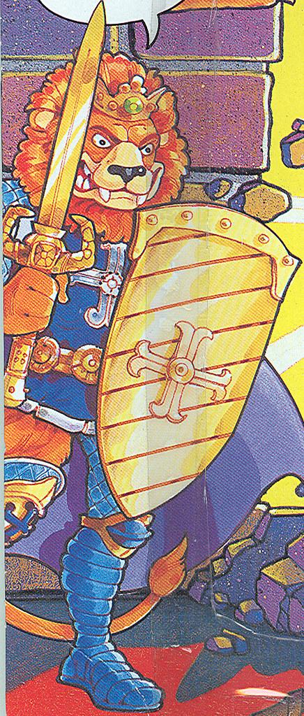 TEENAGE MUTANT NINJA TURTLES::  KING LIONHEART ..card backer ii { His Majesty's battle stance, isolated } (( 1991 - 1992 ))