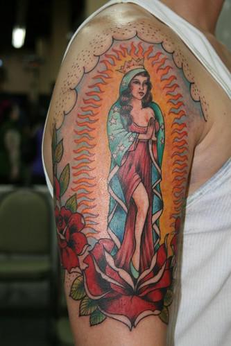 virgen de guadalupe coil tattoo machine. From thrashtastic