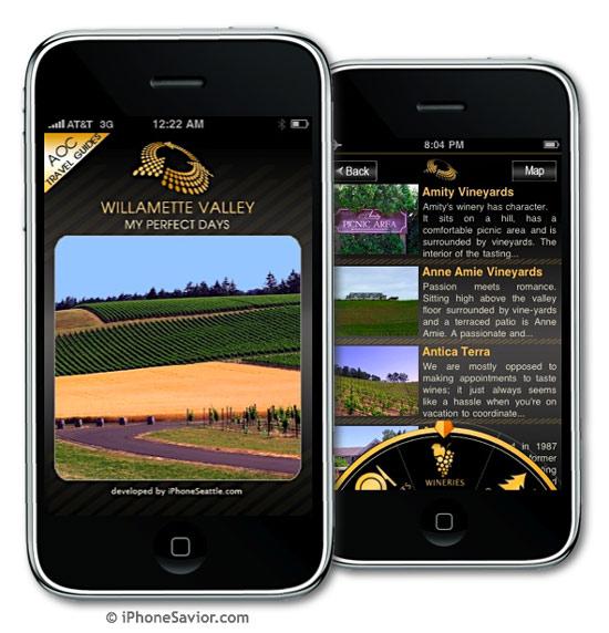 Willamette Valley Wine Tour App