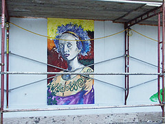 Woman Construction Mural