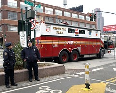 """R001s FDNY """"Outstanding"""" Rescue Company 1 Fire Truck, New York City (jag9889) Tags: county city nyc blue rescue ny newyork bike truck fire 1 cops traffic control manhattan 911 engine police nypd special midtown company pierce operations borough r1 enforcement fdny 2009 department command firefighters lawenforcement finest greenway outstanding officers bravest firstresponders rescue1 12avenue newyorkcitypolicedepartment nycgreenway r001 48street y2009 jag9889"""
