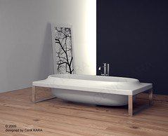 Bathtube Design (Cenk Kara - Designer) Tags: new white green art water architecture modern kara bathroom design photo 3d italian bath artist industrial sink artistic modeling designer steel interior render turkiye competition bathtub organic concept elegant shape product lavatory minimalist banyo futuristic rendering freelance solid bathtube cenk freelancer cersaie corian dizayn cristalplant