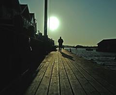Lonely Man Walking (Johan Runegrund) Tags: silhouette museum aquarelle soe johan tjörn runegrund