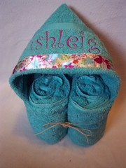 teal leaves and butterflies (spiritofgiving) Tags: towels custom personalized hooded