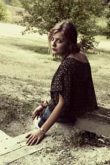 A bit of seventies (Francesca Sara Cauli) Tags: portrait colors girl garden countryside nikon blonde seventies glance 2009 landskape d80 beautiness francescasaracauli