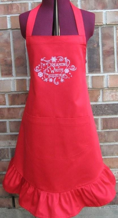 Apron White Christmas Swap Prize1