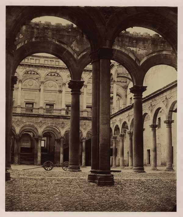 Alcázar de Toledo en 1856. Fotografía de Luis León Masson. Fondo Fotográfico de la Universidad de Navarra