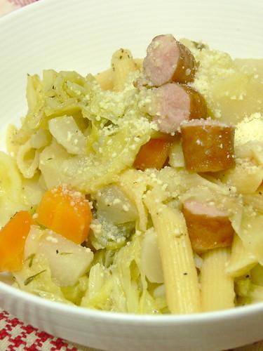 野菜たっぷりのスープパスタ