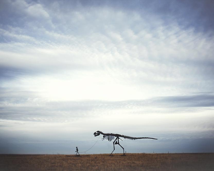 Foto: Paseando los huesos de mi Tiranosaurio Rex