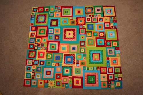 Finished Jewel Squares top!