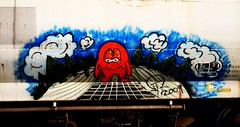 ? (mightyquinninwky) Tags: railroad train geotagged graffiti character tag graf tracks railway tags tagged railcar rails graff graphiti freight trainyard trainart paintedtrain freightyard railart graincar taggedtrain paintedsteel platec evansvilleindiana geo:lat=379622 geo:lon=87609213 paintedrailcar taggedrailcar