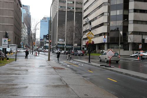 Downtown Montreal Bike Lanes