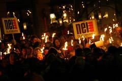Rekordmange deltok i fakkeltoget til ære for fredprisvinner Barack Obama i 2010