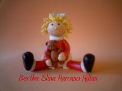 Mueca Navidad Altura 12 Ctm. Aprox. (Bertha Elina Marcano) Tags: en navidad pasta masa francesa flexible fria porcelana porcelanicron felxible