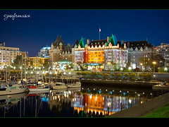 Inner Harbour and The Empress (josefrancisco.salgado) Tags: ca canada puerto hotel harbor nikon harbour britishcolumbia victoria vancouverisland nikkor innerharbour bracketing 3xp exposureblending governmentstreet theempresshotel photomatixpro exposureblend thefairmontempress d700 2470mmf28g