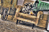 Smokin Bacon (Kitkat2008kt) Tags: street abandoned portugal fire bucket abandon damage torn damaged armchair derelict wheelbarrow albufeira barrow wwh hdraward