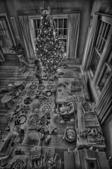 PhotoshopHDRtmpa00924de-2-2 (k.a. gilbert) Tags: christmas bw tree toys mess chaos charlotte bracket daughter multipleexposure livingroom hdr 116 uwa playarea photomatix tonemapped tokina1116mmf28 fromlanding niksilverefexpro