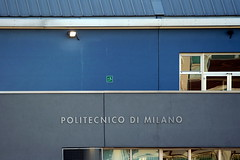 Escape from Politecnico di Milano... :-) (bibendum84) Tags: blue milan university blu milano università prada poli alessandro politecnico bovisa polimi univeristé