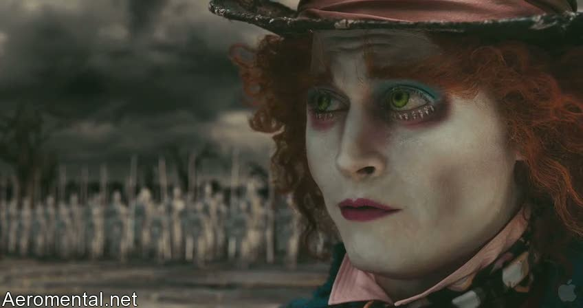 Alice in Wonderland mad hatter face