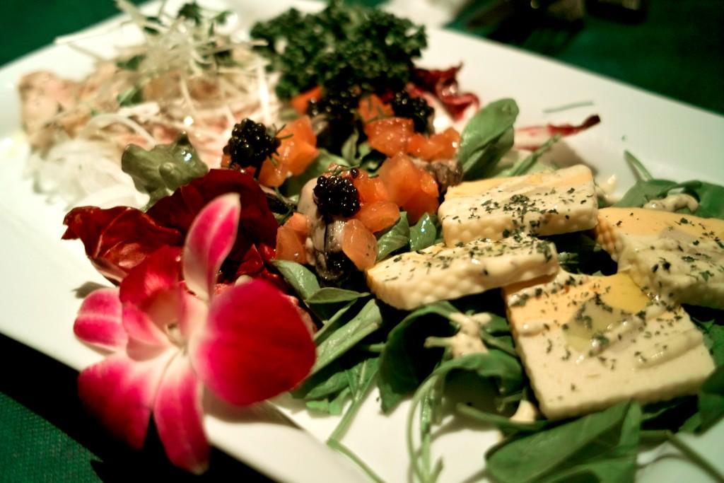 チーズと野菜の盛り合わせ