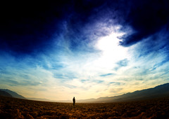 He Is Small Out Here (TJ Scott) Tags: california desert fisheye deathvalley brooding cinematic 10mm